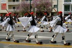 Parada grega do Dia da Independência fotos de stock