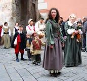 Parada histórica em Taggia Imagens de Stock