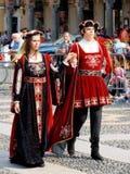 Parada histórica em Vigevano imagem de stock royalty free