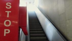 A parada, indo acima a escada rolante não reservou filme