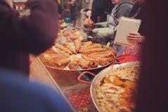 Parada justa de la comida de la ciudad foto de archivo libre de regalías