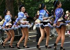 Parada latino-americano do dia em New York fotos de stock