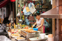 Parada local de la comida, Hong Kong Imagen de archivo