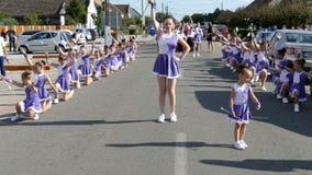 Parada mały cheerleading zbiory wideo