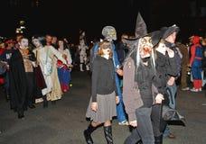 A parada a maior do Dia das Bruxas Fotografia de Stock Royalty Free