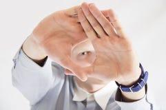 Parada masculina da mão Imagens de Stock