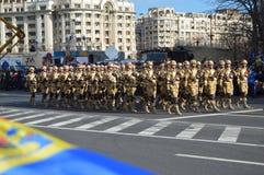 Parada militar com os soldados de Afeganistão Imagem de Stock