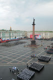 Parada militar da vitória. Imagem de Stock