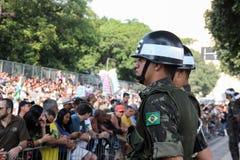 Parada militar do Dia da Independência no Rio, Brasil Fotos de Stock Royalty Free