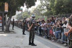 Parada militar do Dia da Independência no Rio, Brasil Foto de Stock Royalty Free
