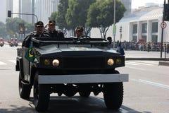 Parada militar do Dia da Independência no Rio, Brasil Imagens de Stock Royalty Free