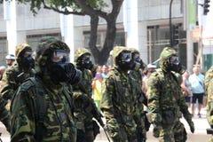 Parada militar do Dia da Independência no Rio, Brasil Imagem de Stock