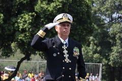 Parada militar do Dia da Independência no Rio, Brasil Fotografia de Stock Royalty Free
