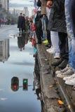 Parada militar em BELGRADO Fotos de Stock