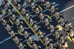 Parada militar, em Bucareste, Romênia Imagem de Stock