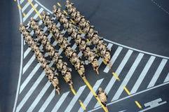 Parada militar, em Bucareste, Romênia Fotos de Stock