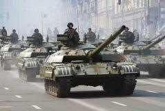 Parada militar em Kiev Fotografia de Stock