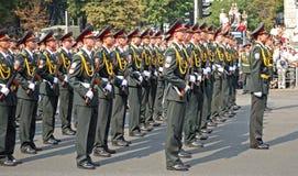 Parada militar em Kiev (Ucrânia) Imagem de Stock