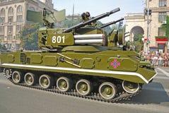 Parada militar em Kiev (Ucrânia) Fotografia de Stock Royalty Free