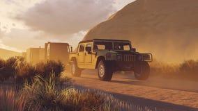 Parada militar em um Canyon Road 1 Imagem de Stock Royalty Free