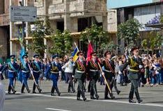 Parada militar na capital ucraniana Imagens de Stock Royalty Free
