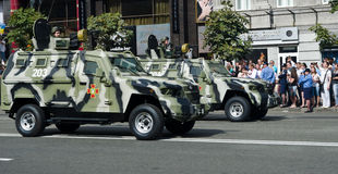Parada militar na capital ucraniana Foto de Stock Royalty Free