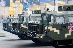 Parada militar para o Dia da Independência ucraniano Imagem de Stock