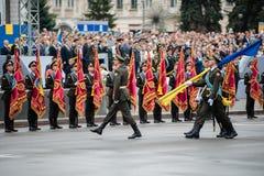Parada militar para o Dia da Independência ucraniano Imagem de Stock Royalty Free