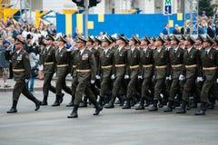 Parada militar para o Dia da Independência ucraniano Fotografia de Stock