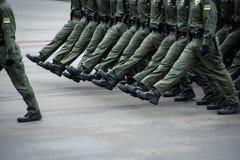 Parada militar para o Dia da Independência ucraniano Imagens de Stock Royalty Free