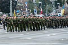 Parada militar para o Dia da Independência ucraniano Imagens de Stock