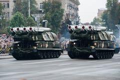Parada militar para o Dia da Independência ucraniano Fotografia de Stock Royalty Free