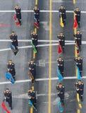 Parada militar que comemora o dia nacional de Romênia fotos de stock