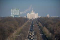 Parada militar que comemora o dia nacional de Romênia imagem de stock