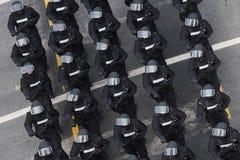 Parada militar que comemora o dia nacional de Romênia fotografia de stock royalty free