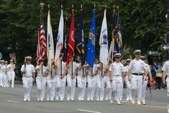 A parada nacional de Memorial Day imagens de stock