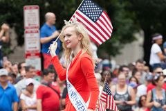 Parada nacional do Dia da Independência Fotos de Stock