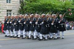Parada nacional do Dia da Independência Fotos de Stock Royalty Free