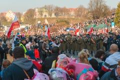 Parada no Dia da Independência polonês imagem de stock royalty free