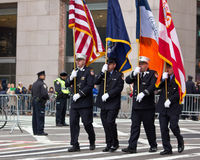 Parada NYC do dia do St. Patricks imagens de stock