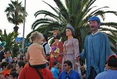 Parada ogromne lale obraz royalty free