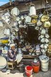 Parada para el equipo de la cocina en Sanaa Imagen de archivo