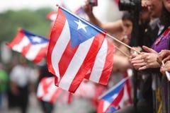 Parada porto-riquenha do dia imagens de stock