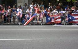 Parada porto-riquenha do dia; NYC 2012 foto de stock
