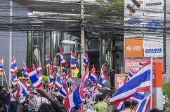 Parada programada de Banguecoque: 14 de janeiro de 2014 Imagem de Stock
