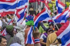 Parada programada de Banguecoque: 14 de janeiro de 2014 Foto de Stock