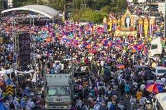 Parada programada de Banguecoque: 13 de janeiro de 2014 Fotos de Stock Royalty Free