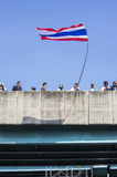 Parada programada de Banguecoque: 13 de janeiro de 2014 Imagem de Stock