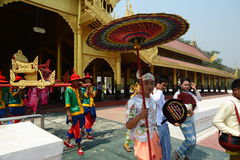 Parada przy Starym pałac Fotografia Royalty Free