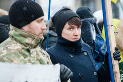 Parada Putin do ` da ação do protesto - pare o ` da guerra no quadrado da independência em Kyiv Foto de Stock